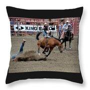 Bronco Rider Four Throw Pillow