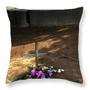 Untitled Grave Throw Pillow