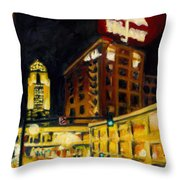 Untitled In Red And Gold Throw Pillow