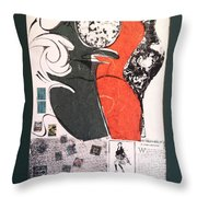 Untitled Mixed Media Throw Pillow