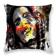 Untitled Reduction 3 Bob Marley Throw Pillow