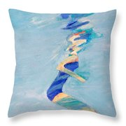 Untitled Swimmer Throw Pillow