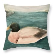Quack, Quack Throw Pillow