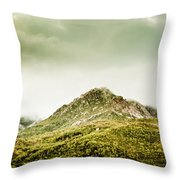 Untouched Mountain Wilderness Throw Pillow