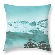 Untouched Winter Peaks Throw Pillow