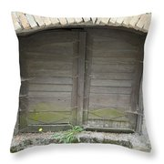 Unused Door Throw Pillow
