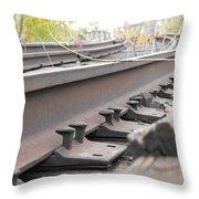 Unused Rail Throw Pillow