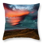 Unusual Clouds Catch Sunset Throw Pillow