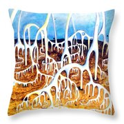 Unusual Construction On Planet Of Alien Civilization Throw Pillow
