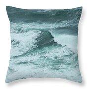 Unusual Green Wave Vertical Throw Pillow