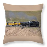 Up 844 Steams Over The Altamont Pass  Throw Pillow