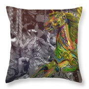 Up Down And Around London Throw Pillow
