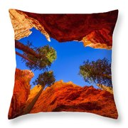 Up From Wall Street Throw Pillow