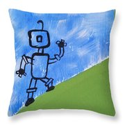 Up Hill Climb Throw Pillow