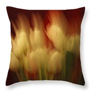 Up In Flames Throw Pillow by Donna Blackhall