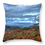 Up In The Clouds Blue Ridge Parkway Mountain Art Throw Pillow