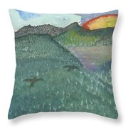 Up In The Mountains Throw Pillow