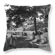 Up On A Hill Throw Pillow