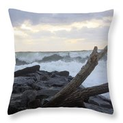 Up On The Rocks Throw Pillow