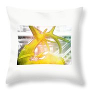 Up On The Rooftop Yellow Throw Pillow