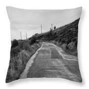 Up That Hill Throw Pillow