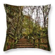 Up The Bluff Throw Pillow