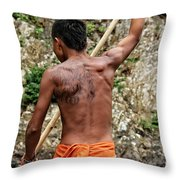 Up The Chagres River Throw Pillow