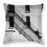 Up The Fire Escape Abstract Throw Pillow