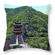 Up The Great Wall Throw Pillow