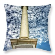 Up The Lovejoy Monument  Throw Pillow