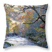 Up The Mountain We Go Throw Pillow