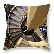 Up The Spiral Staircase Throw Pillow