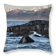 Up The Stikine Throw Pillow