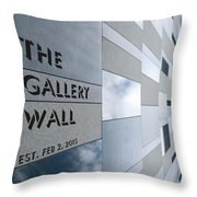 Up The Wall-the Gallery Wall Logo Throw Pillow