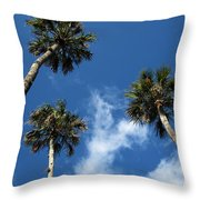 Up To The Sky Palms Throw Pillow