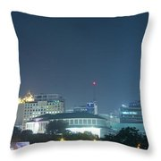 Up Town Cebu City Lights Throw Pillow