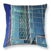 Up Town Phoenix Building Throw Pillow