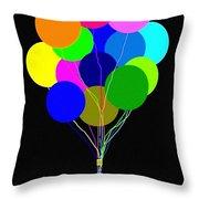 Upbeat Balloons Throw Pillow