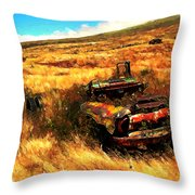 Upcountry Wreck Throw Pillow