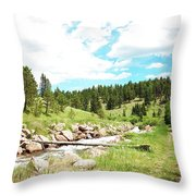 Upcreek  Throw Pillow