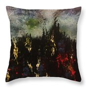 Upheaval Of The Night  Throw Pillow