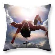 Upheld By Grace Throw Pillow