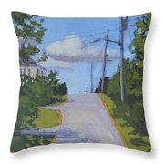 Uphill - Art By Bill Tomsa Throw Pillow