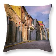 Uphill In Avila Throw Pillow