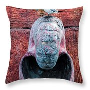 Upon A Shell Throw Pillow