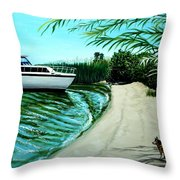Upon Ashore Throw Pillow