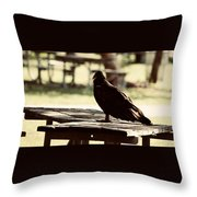 Upon The Look Throw Pillow