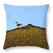 Upon The Roof Throw Pillow