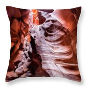 Upper Antelope Canyon #1 Throw Pillow