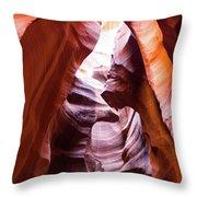 Upper Antelope Canyon 3 Throw Pillow